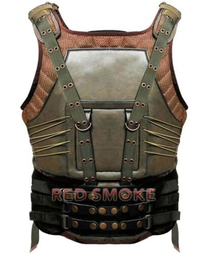 Men/'s Celebrity Look Tom Hardy The Dark Knight Rises Synthetic Leather Bane Vest