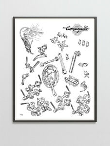 Campagnolo Record / Nuovo Record groupset poster 1966
