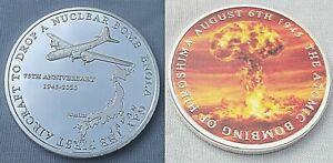 Enola Gay Silver Coin Atomic Bomb Hiroshima 1945 75th Anniversary 2020 USA Japan