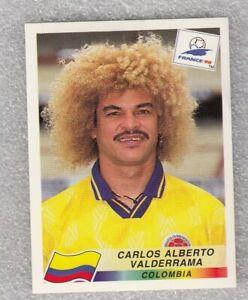 Sticker football CARLOS VALDERRAMA Colombia FIFA WC France 1998 Panini #456