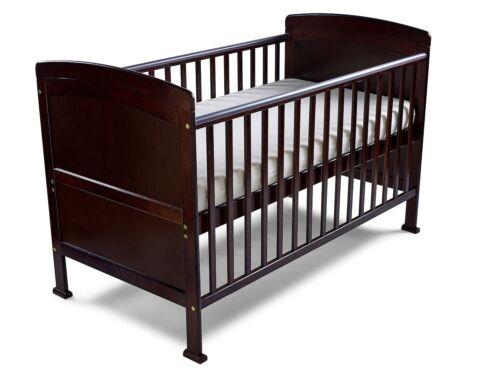 Penelope Walnut Cot Bed//Toddler Bed Sprung Mattress /& Teething Rails