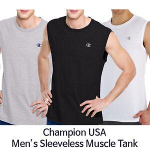 8efad48309b3 Champion Men's Cotton Jersey Muscle Tee Sleeveless Tank T2231 NEW ...