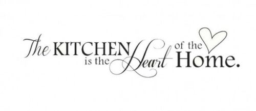 The Kitchen is the heart of the home Wall Art Quote Wall vinyl sticker Decal