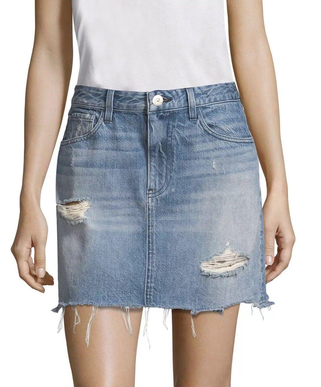 Nouve245 - 3X1 Jeans celien Mini-jupe en jean Größe 32 Laz effet vieilli