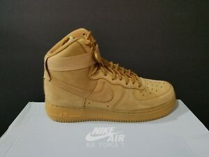 san francisco 9d07e 85b97 Image is loading Nike-Air-Force-1-High-LV8-GS-Flax-