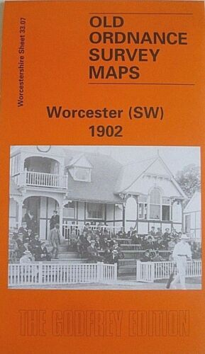 OLD ORDNANCE SURVEY MAPS WORCESTER SW  WORCESTERSHIRE  1902 Godfrey Edition