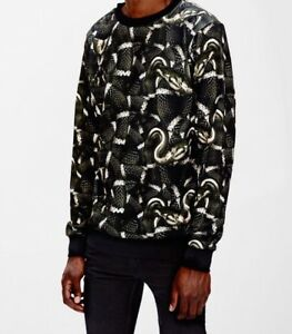 Details about Brand New With Tags Marcelo Burlon County Of Milan Snake Green Mens Crew Sweater