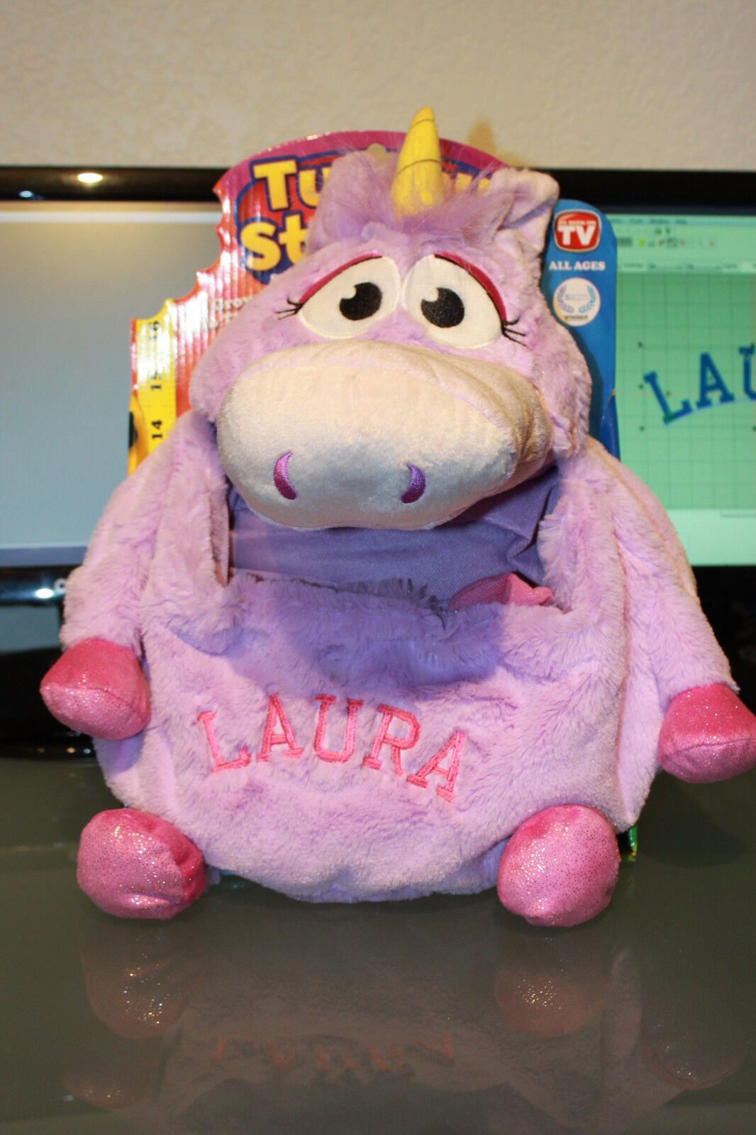 Tummy Stuffer - violaC UNICORN  PERSONALIZED As Seen On TV   New MUST SEE