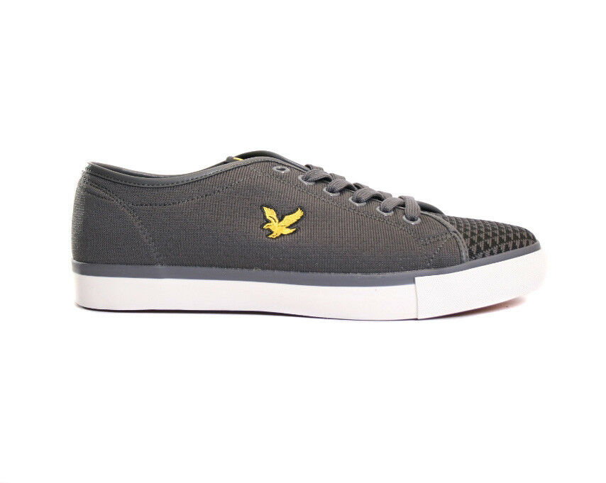 Lyle & Scott Teviot Knit Smart Casual Trainers in grau SALE
