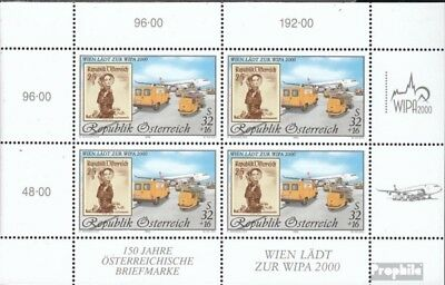 complete Issue Sincere Austria 2292i Sheetlet Used 1999 Wipa 2000 Terrific Value
