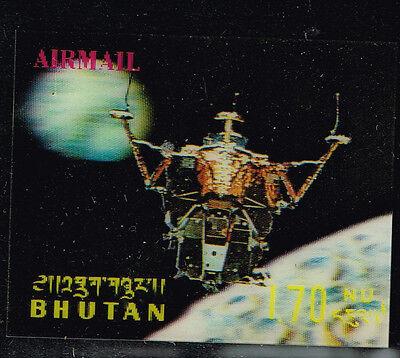 Briefmarken Bhutan Us Weltraum Apollo 16 Auf Mond 3d Luftpost Stamp1972 Mnh Seien Sie In Geldangelegenheiten Schlau