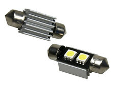 2x 2 SMD LED 36mm Soffitte Weiß von LETRONIX C5W CHECK Can-Bus ALU-Kühlkörper