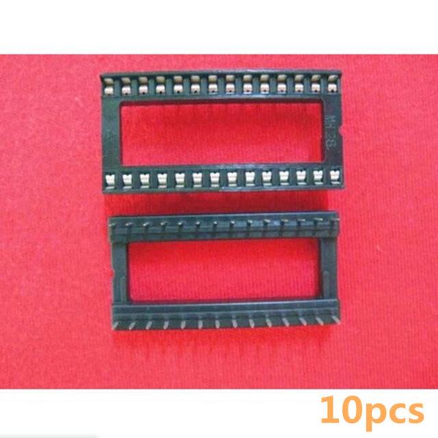 10PCS 28 Pin 28P Wide DIP IC Sockets Adaptor Solder Type Socket