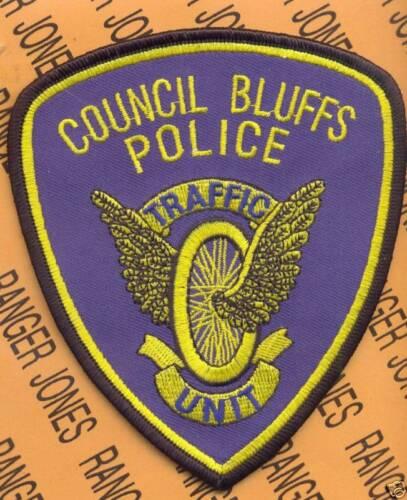 COUNCIL BLUFFS IOWA TRAFFIC Police Dept PD LEO patch