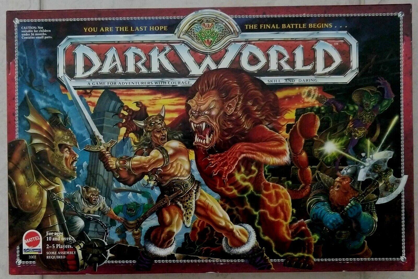 1992 Mundo Oscuro Juego De Mesa Mattel Vintage Completo-Caja y Juego  Excelente Estado