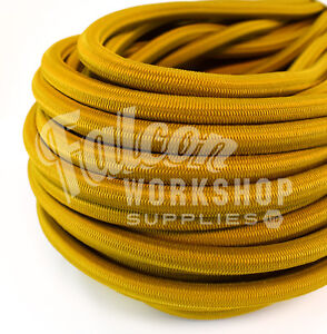 6mm Luminous Yellow Elastic Bungee Rope Shock Cord Tieroof Racks Trailers 100% High Quality Materials Sporting Goods Outdoor Sports