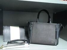 CARPISA borsa nera ecopelle componibile (2 versioni = 2 borse), 100% originale