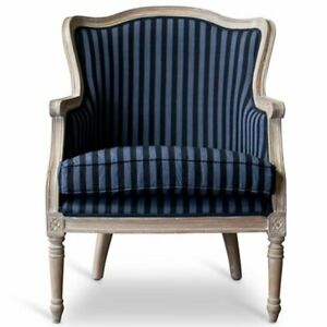 Peachy Details About Baxton Studio Charlemagne Accent Chair In Blue And Brown Pabps2019 Chair Design Images Pabps2019Com
