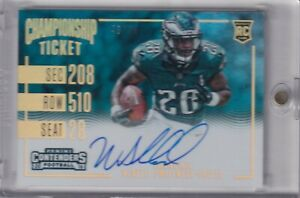 Wendell-Smallwood-2016-Contenders-Championship-Ticket-Rc-On-Card-Auto-Sp-48-99