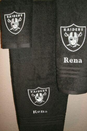 Raiders Personalized 3 Piece Bath Towel Set Football Raiders any color