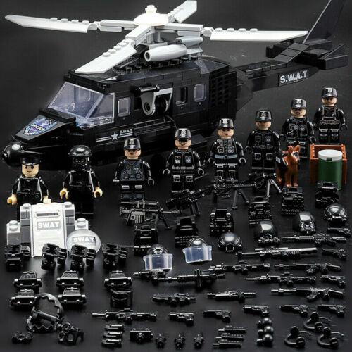 Militärische Minifigur Bicks Swat Polizei Armee Team Fit Lego Spielzeug Geschenk