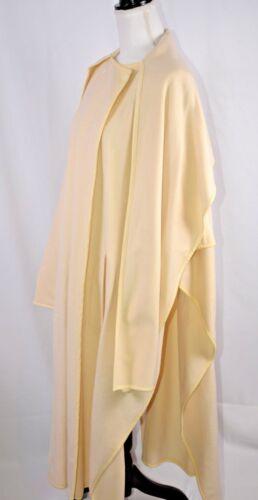 Trim Fun Wool Wrap Women's Poncho Sz 738 Leather Escada Cape Ivory New 36 Small WZpqPBZO