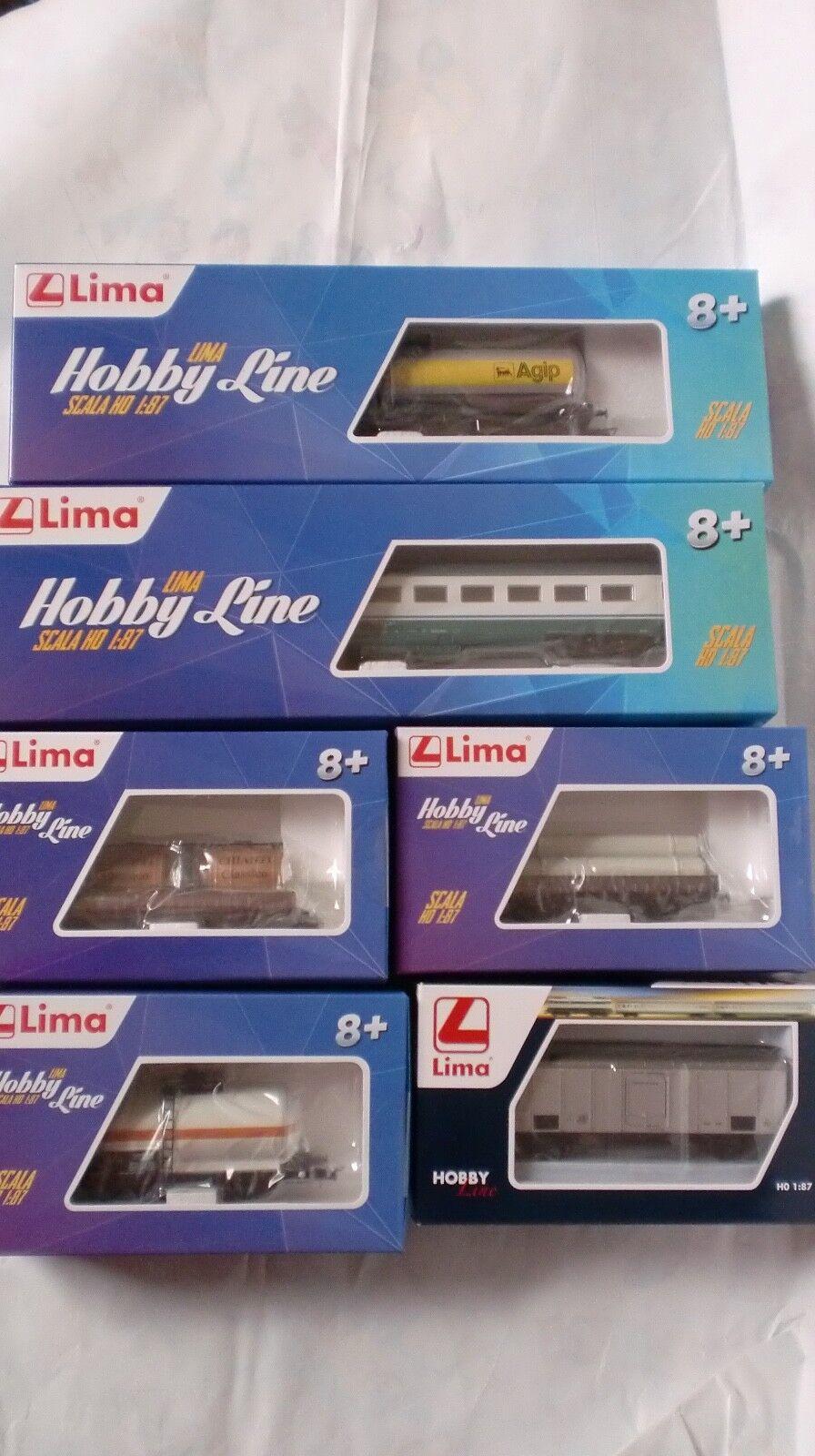 LIMA SET HO 6 PEZZI  HL6101 HL6102 HL6107 HL6108 HL6040 HL4100