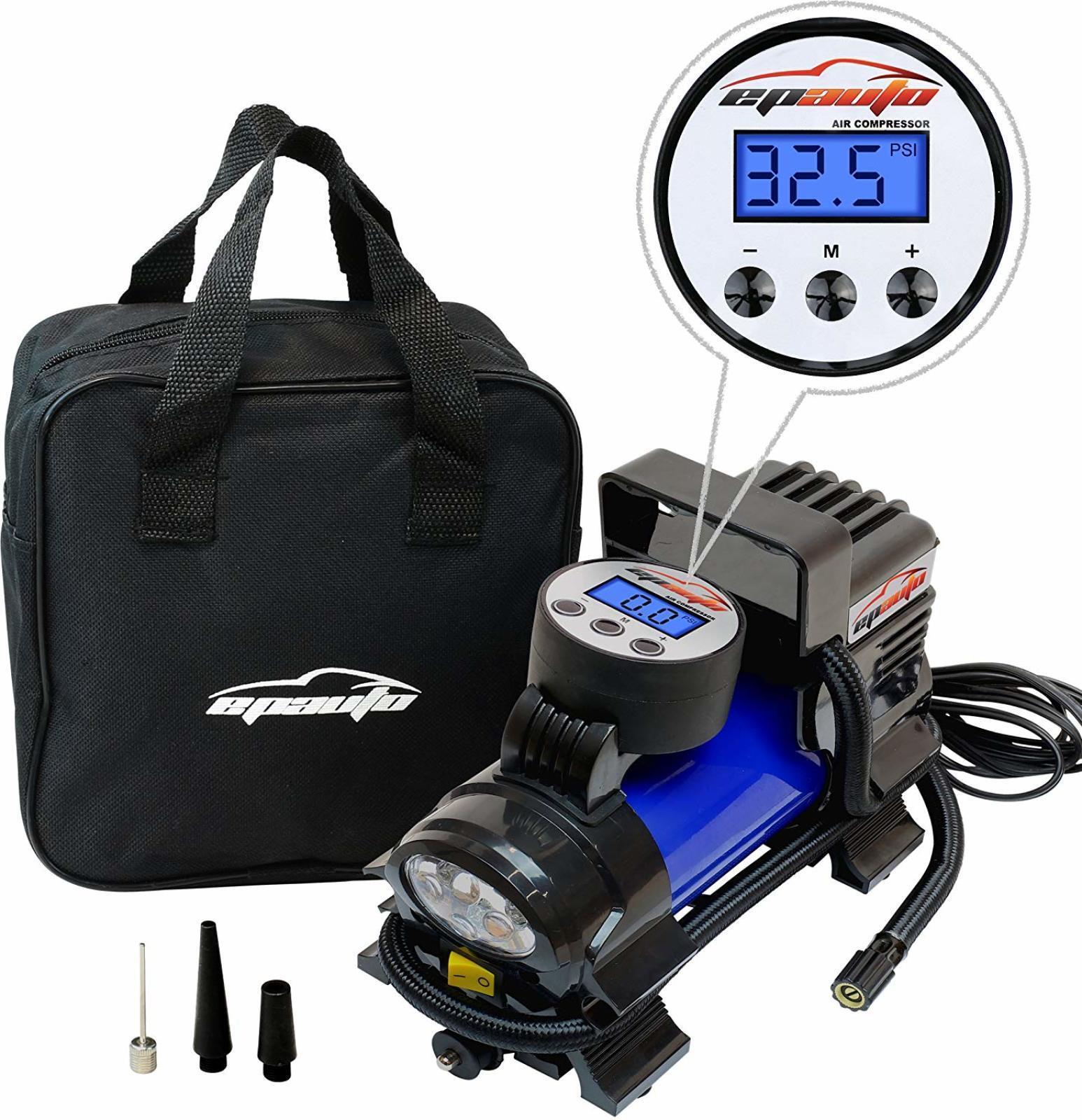 12V DC Portable Air Compressor Pump, Digital Tire Inflator by 100 PSI bluee New..