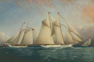perfect-36x24-oil-painting-handpainted-on-canvas-034-The-Yacht-Racing-034-NO8277