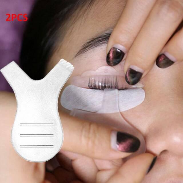 2 Pcs Soft Y Shape Disposable Brush Mascara Grafting Eyelashes Tool Chic