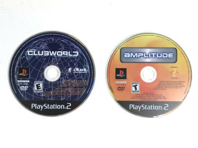 Amplitude (2003) + eJay ClubWorld Music Disc ONLY PS2 TESTED