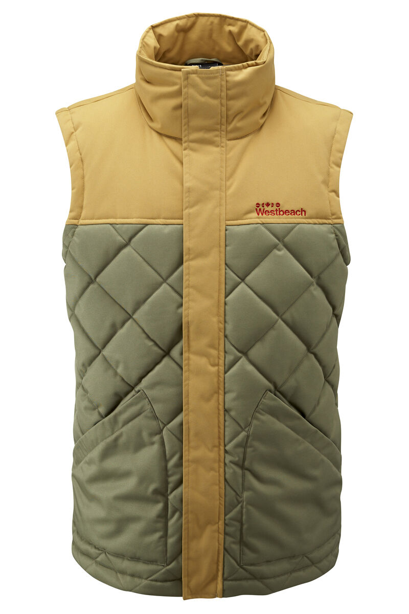 Westbeach Men's Walden Vest in Commando (Green Yellow). Size M. RRP .