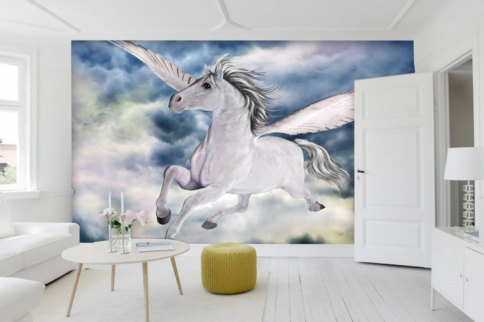 3D Flying Horse Painting 8 Wallpaper Mural Print Wall Indoor Wallpaper Murals UK