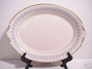Sherwood Syracuse China Old Ivory Blue Laurel Platter Ebay