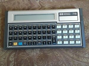 HP-71b calculator with HP-IL module works