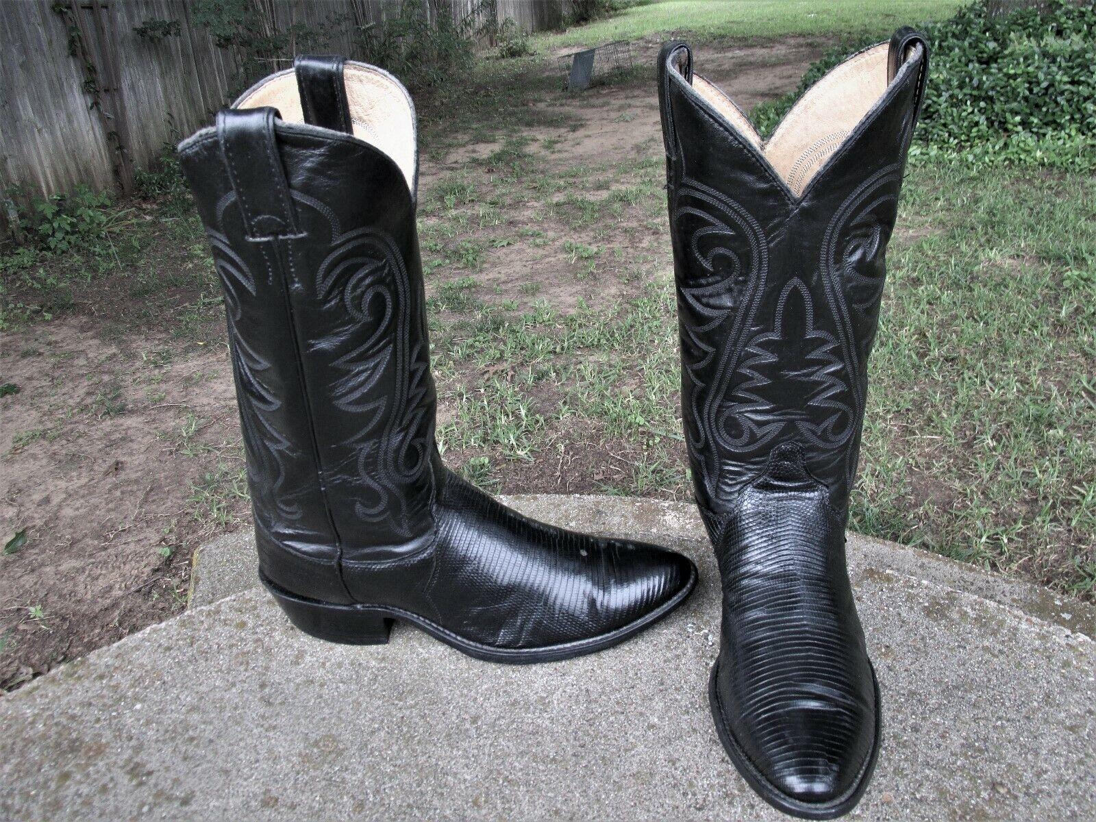 JUSTIN Lagarto botas de vaquero para hombre 9.5'D