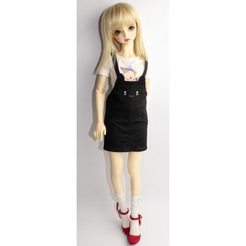 1//3 BJD Kleidung Outfit schwarze Katze Ohr Schultergurt Kleid für SD DZ DD