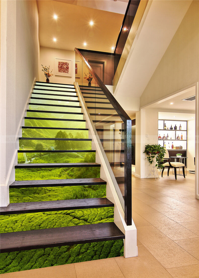 3D Wiese 34 Stair Risers Dekoration Fototapete Vinyl Aufkleber Tapete DE