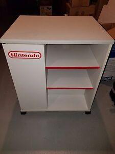 ... Original-Nintendo-NES-Wood-TV-Stand-Storage-Cart- & Original Nintendo NES Wood TV Stand Storage Cart Display Cabinet ...