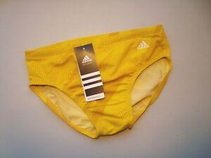4ade67babf Image is loading ADIDAS-Yellow-Infinitex-Plus-Shock-Energy-Swim-Brief-