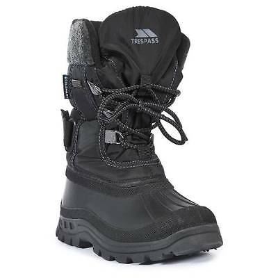 NEW BOYS YOUTHS TRESPASS SKI SNOW WINTER BOOTS THERMAL BLACK 28 10 to 6 39