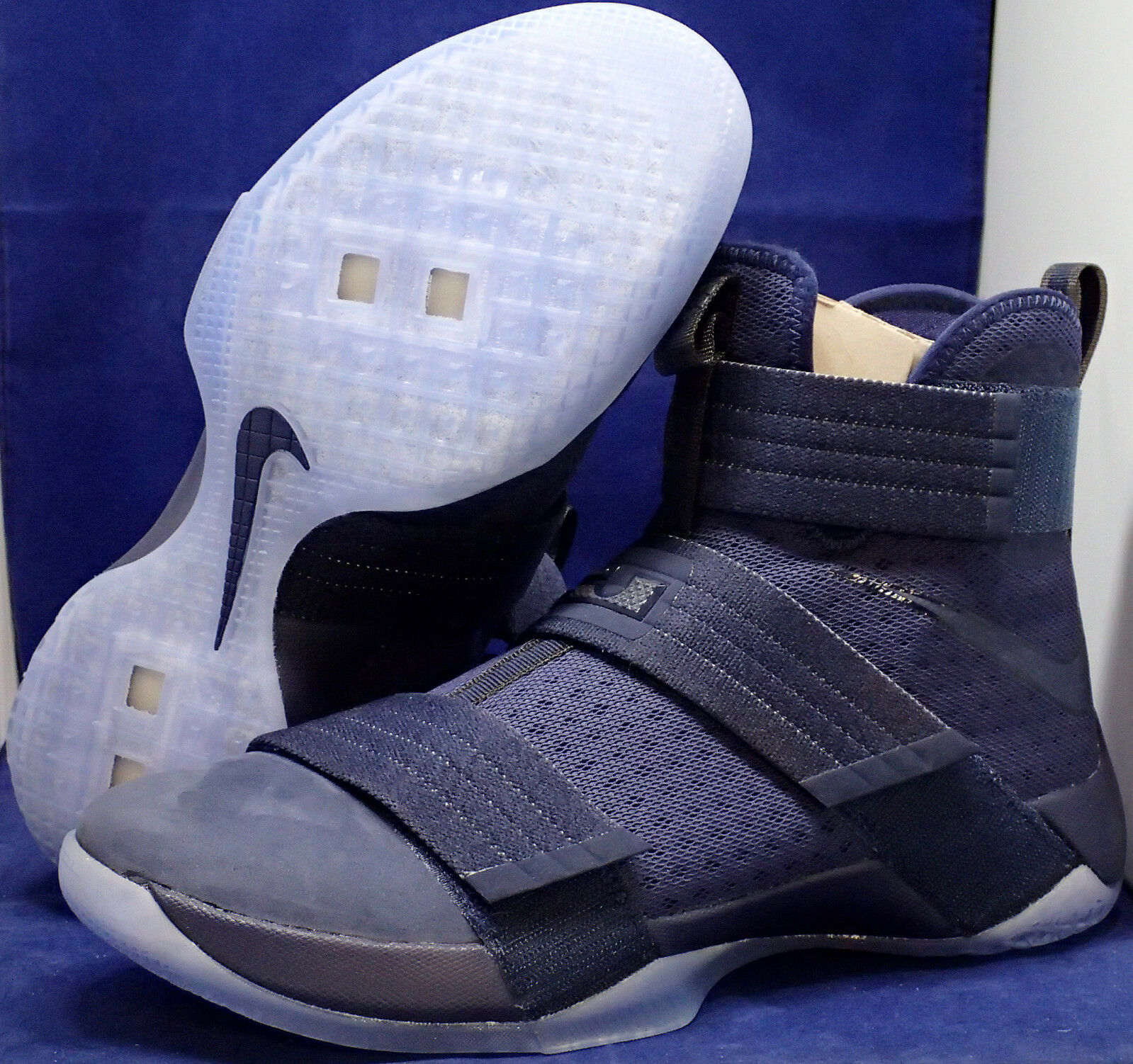 Nike Lebron Soldier 10 X SFG Midnight Navy SZ 10.5 ( 844378-444 )