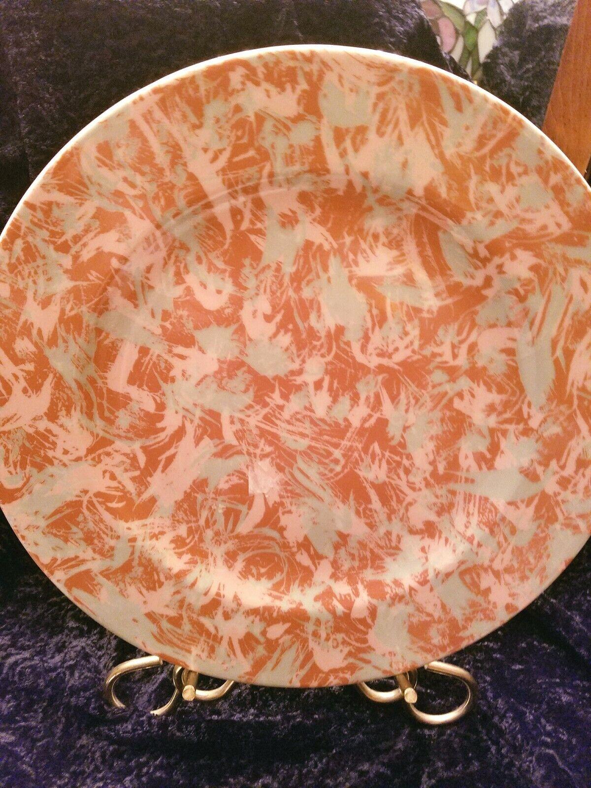 Schonwald 9291 Germany Art Deco Orange Blau 12   Plate