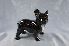 französische Bulldogge Keramik  hundefigur figur dogge schwarz