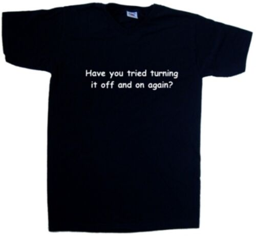 Have You Tried Turning It Off And  Funny V-Neck T-Shirt