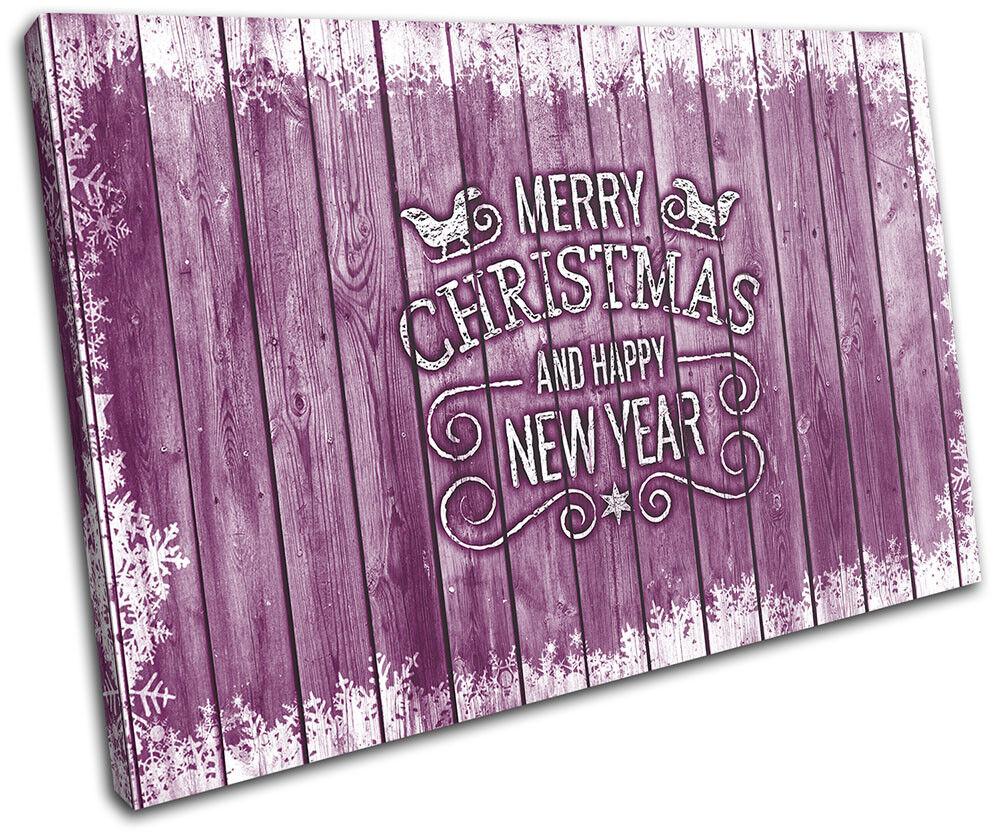Christmas Decoration Wall Canvas ART Print XMAS Picture Gift Wood 06 viola Chri