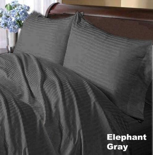 1000 TC Egyptian Cotton Bedding Item Extra Deep Pocket Striped Color Full XL