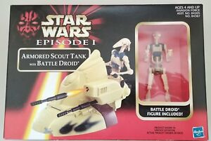 Star Wars Episode I Armored Scout Tank With Battle Droid