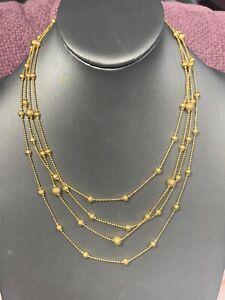 Women's Ladies Signed Premier designs Necklace Gold Multi Strand Multi Strand 20