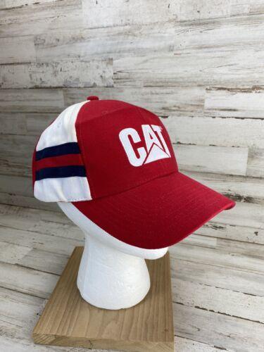 Vintage CAT 3 Stripe Three Stripe Hat Cap VTG RARE